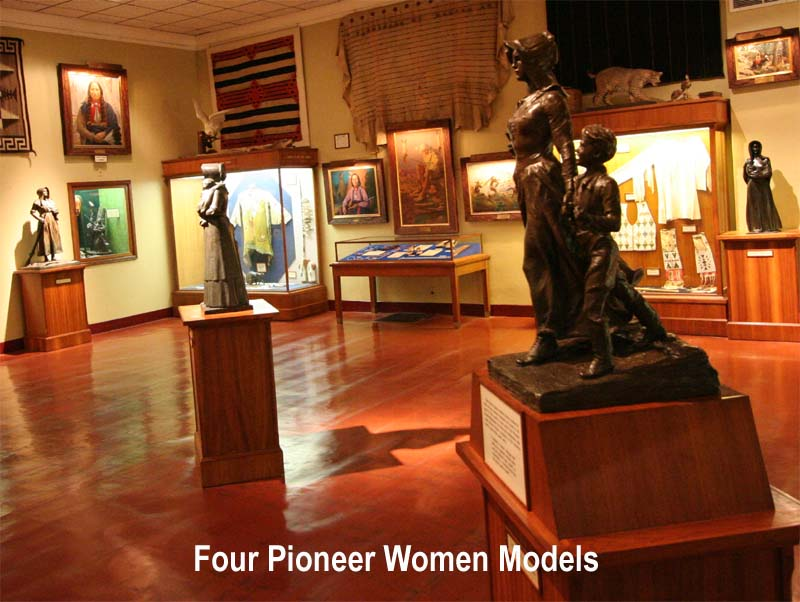 E. W. Marland's Pioneer Woman Models at Frank Phillips' Woolaroc Museum by Hugh Pickens